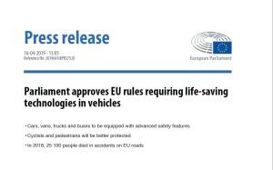 16.04.2019, EU-Parlamentet, pressemelding